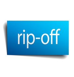 Rip-off blue paper sign on white background vector