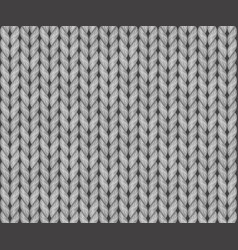 Seamless knitted texture realistic vector