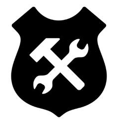 Shield Options Flat Icon vector
