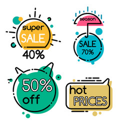 shopping promotion and super sale sticker vector image