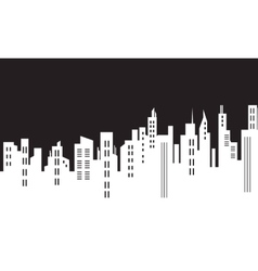 Silhoueutte of city black white backgrounds vector