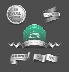 Silver business graphics vector