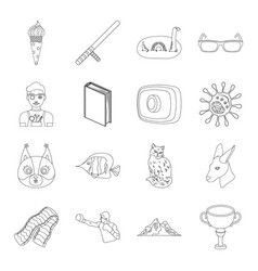 sport security animal and other web icon in vector image
