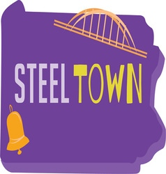 Steel Town vector image