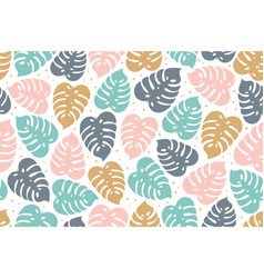 Tropical seamless pattern in pastel colors summer vector