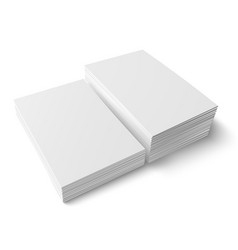 Two different stacks blank business card vector