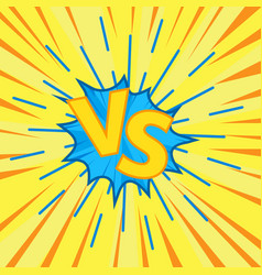 versus letters fight vector image
