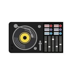 Vinyl machine music sound dj icon graphic vector