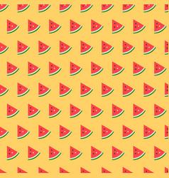 Watermelon slice seamless pattern fruit background vector