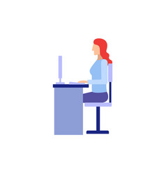 woman working in office flat vector image