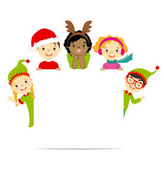Kids dressed in Christmas costumes vector image vector image