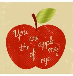 retro apple of my eye vector image vector image