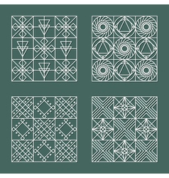 Set of geometric hipster shapes 4477 vector