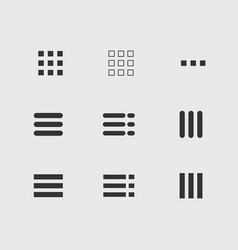 ui menu icons set vector image vector image