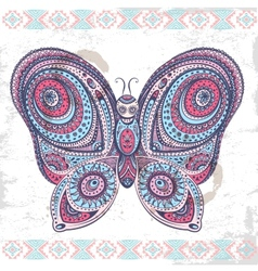 Vintage ethnic butterfly vector image vector image