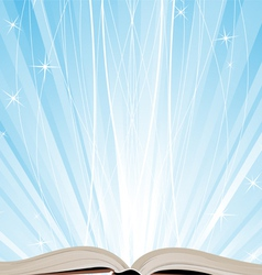 Book and sparkling light vector image