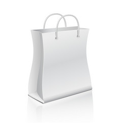 Empty paper shopping bag isolated on white vector image vector image