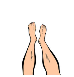 human feet isolated on white background vector image