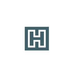 letter h logo icon design template vector image