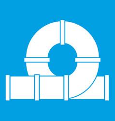 playground slider water tube icon white vector image vector image