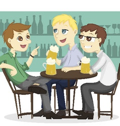 The after work beer time vector image