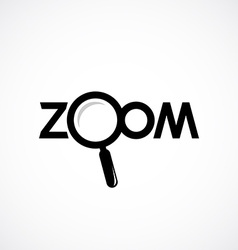 Zoom icon with letters Magnifying glass are vector image vector image