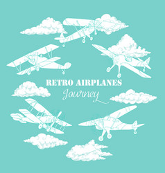 backgr colored airplanes-08 vector image
