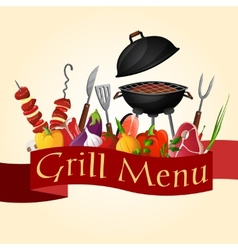 Bbq grill background vector image vector image