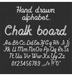 Hand drawin alphabet handwritting abc font on vector
