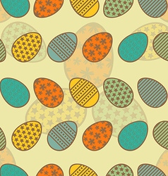 Easter eggs seamless pattern vector image vector image