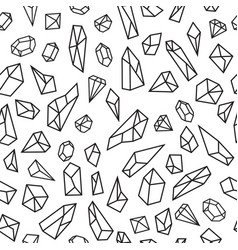 geometric seamless pattern with crystals vector image