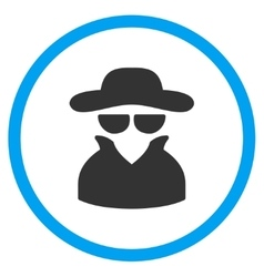 Spy Rounded Icon vector image