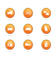 vehicle button color vector image vector image