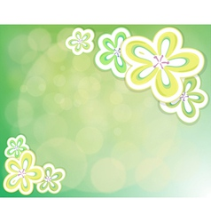 A flowery background vector