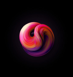 Abstract 3d twisted shape vector