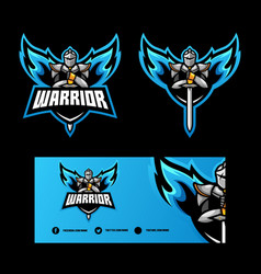 abstract angel warrior design template vector image