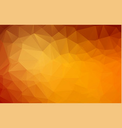 abstract dark orange polygonal mosaic background vector image