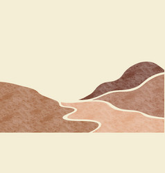Abstract mountain landscape natural landscape vector