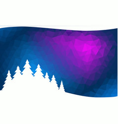 abstract winter background with fir forest vector image