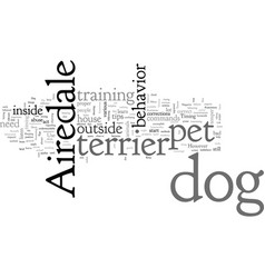 Airedale dog pet terrier vector