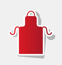 apron simple sign new year reddish icon vector image