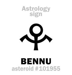 astrology asteroid bennu vector image
