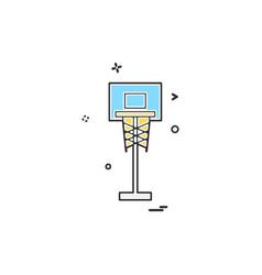 Basket ball icon design vector