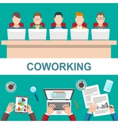 Business meeting in office coworker concept vector