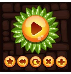 Button set for mobile game vector