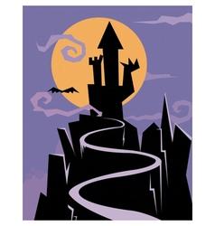 Castle of nightmares vector