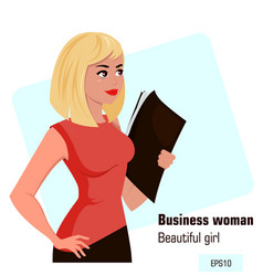 Character beautiful business woman 14 vector