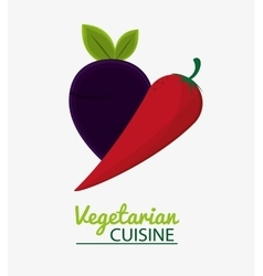Chili pepper vegetable vegetarian cuisine vector