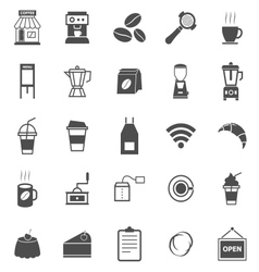 Coffee shop icons on white background vector