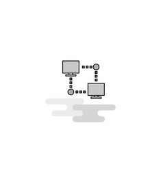 computer networks web icon flat line filled gray vector image